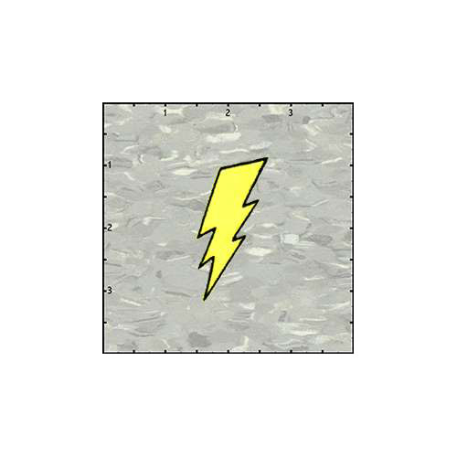Lightning Bolt Gold Patch
