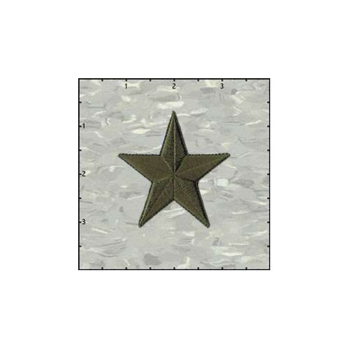 Star Solid 2.5 Inches Army Green Patch
