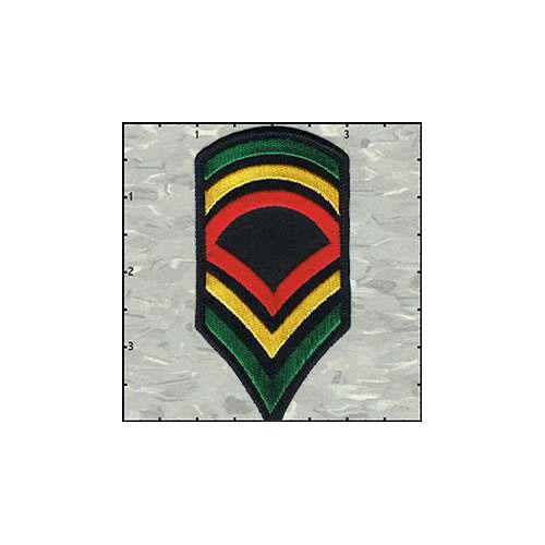 Stripes Rasta Colours No Leaf patch