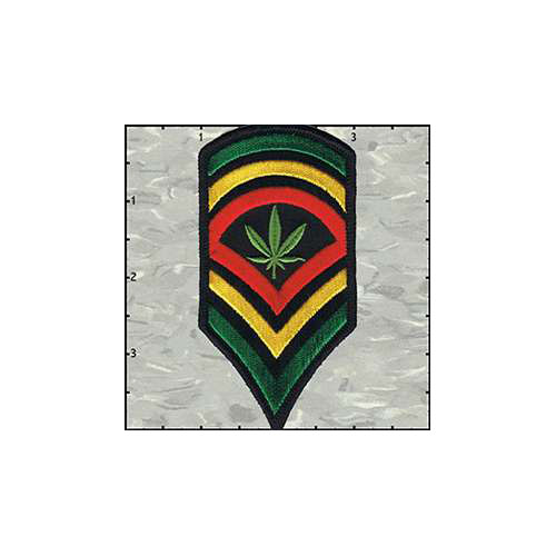 Stripes Rasta Colours with Leaf Patch