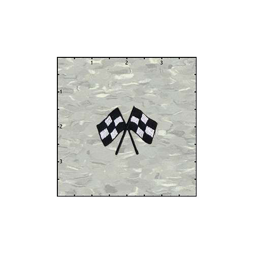 Racing Flags 1.75 Inches Patch
