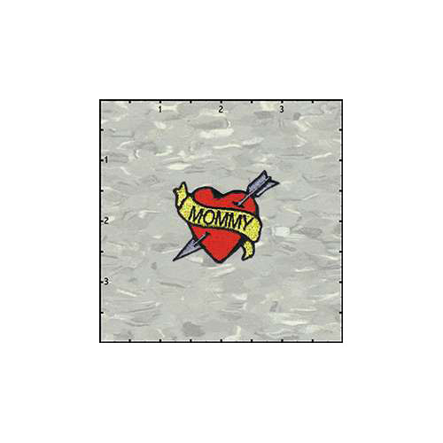 Heart Tattoo 1.75 Inches Mommy Patch