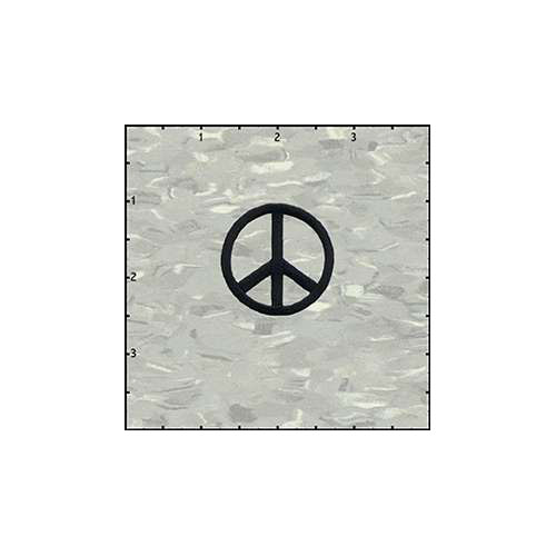 Peace Cutout 1.5 Inches Black Patch