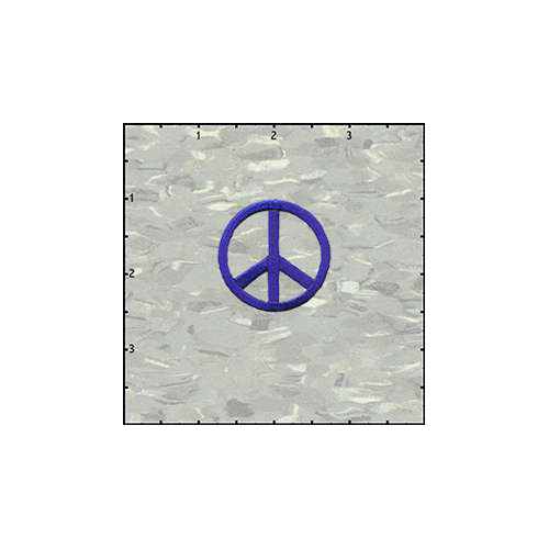 Peace Cutout 1.5 Inches Purple Patch