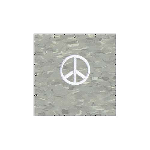 Peace Cutout 1.5 Inches White Patch