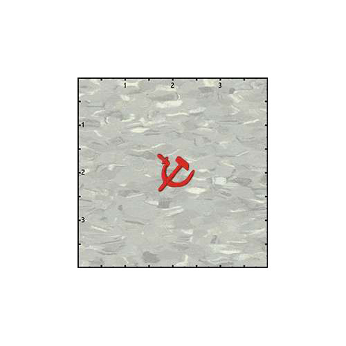 Hammer and Sickle Cutout 0.75 Inches Red Patch