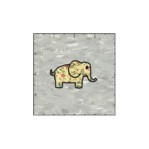 Elephant Flowered Patch