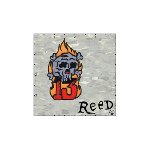 Reeds Skull Flame 13 Patch