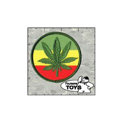 Foursome Toys Leaf Rasta Round 3 Inches Patch
