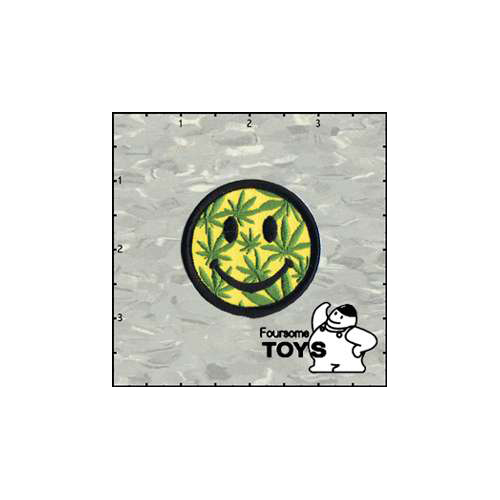 Foursome Toys Leaf Smiley Face 2 Inches Patch