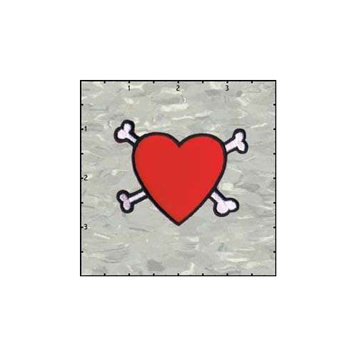 Fuzzy Dude Heart and Crossbones
