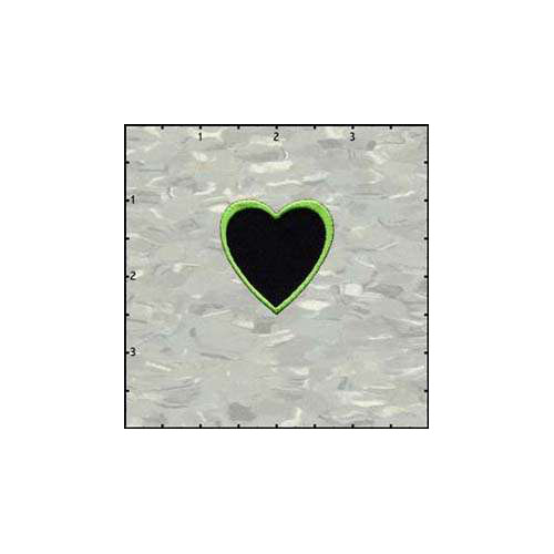 Fuzzy Dude Heart Black Middle Green Lime