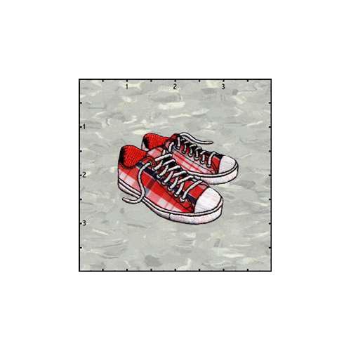 Fuzzy Dude Tennis Shoes Plaid