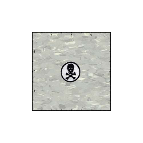 Fuzzy Dude 1 Inches Round Skull Black on White