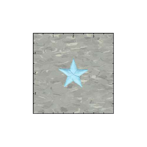 Fuzzy Dude Star Solid 1.5 Inches Neon Blue