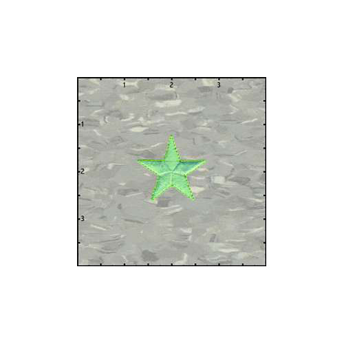 Fuzzy Dude Star Solid 1.5 Inches Neon Green