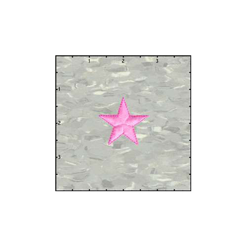 Fuzzy Dude Star Solid 1.5 Inches Neon Pink