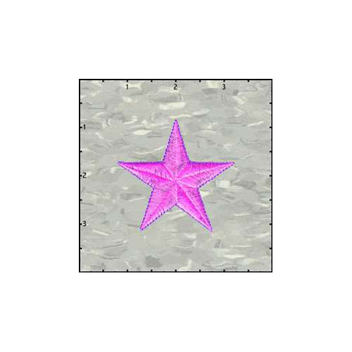 Fuzzy Dude Star Solid 2.5 Inches Neon Purple