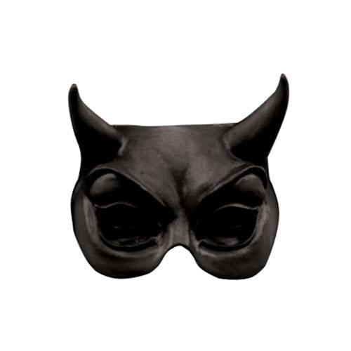 Devil Black Half Mask