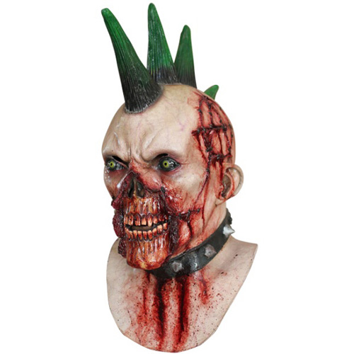 Undead Punk Rocker Costume Mask