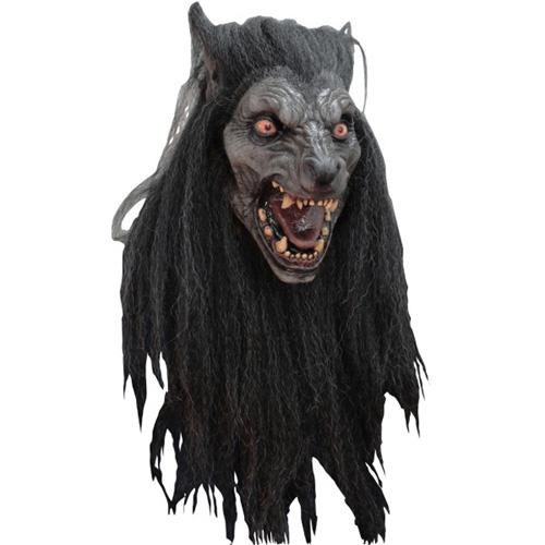 Black Moon Wolf Costume Mask