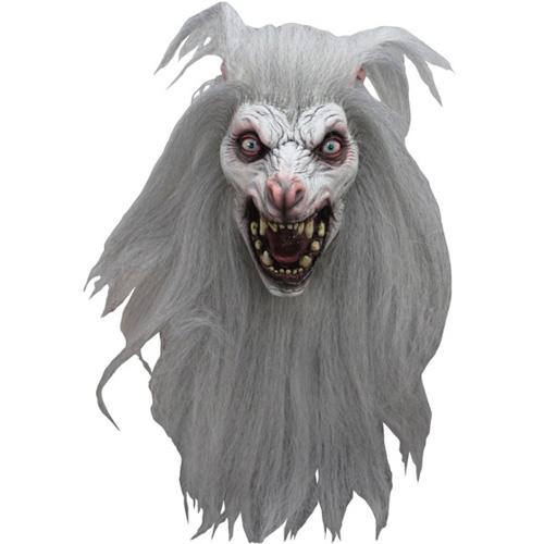 White Moon Wolf Costume Mask