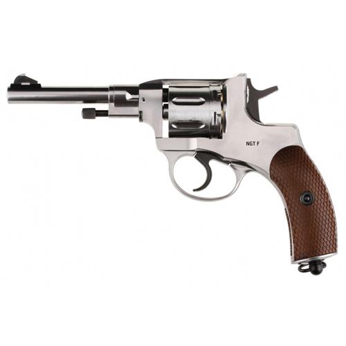 NGT F Nagant Revolver BB Gun - Silver