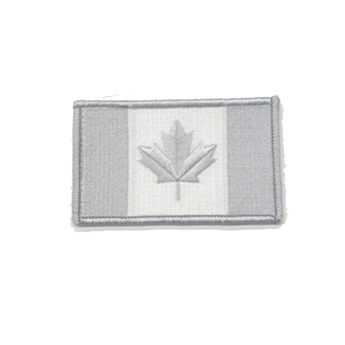 Large Winter Grey Canada 3 3/8 x 2 Inch Patch Iron On
