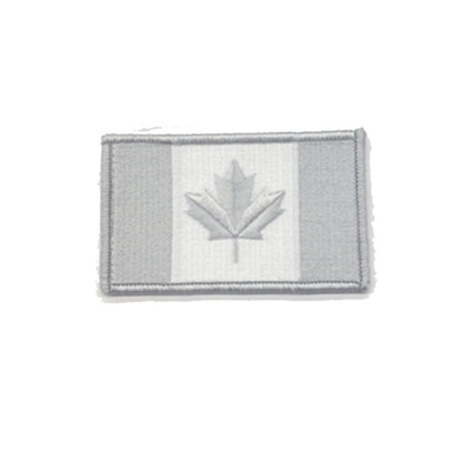 Medium Winter Grey Canada 3 x 1 3/4 Inch Patch Iron On