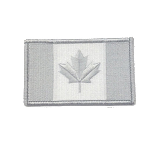 Small Winter Grey Canada 2 x 1 Inch Patch Iron On