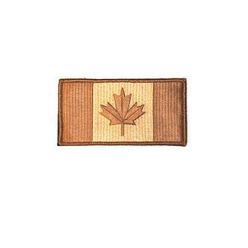 Large Desert Canada 3 3/8 x 2 Inch Patch Hook and Loop Backing