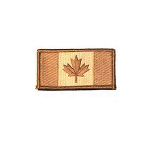 Medium Desert Canada 3 x 1 3/4 Inch Patch Hook and Loop Backing