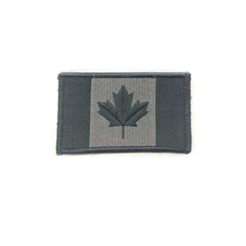 Large Foliage Canada 3 3/8 x 2 Inch Patch Hook and Loop Backing