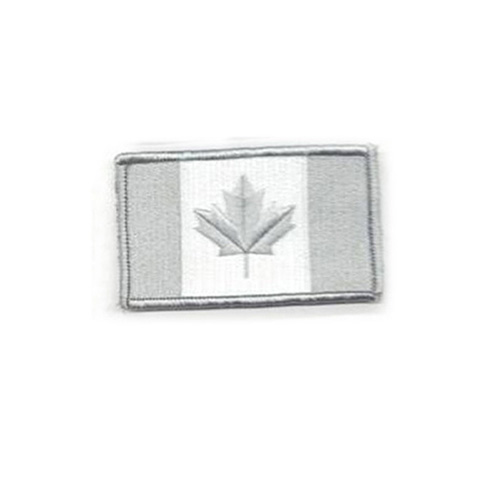 Medium Winter Grey Canada 3 x 1 3/4 Inch Patch Hook and Loop Backing