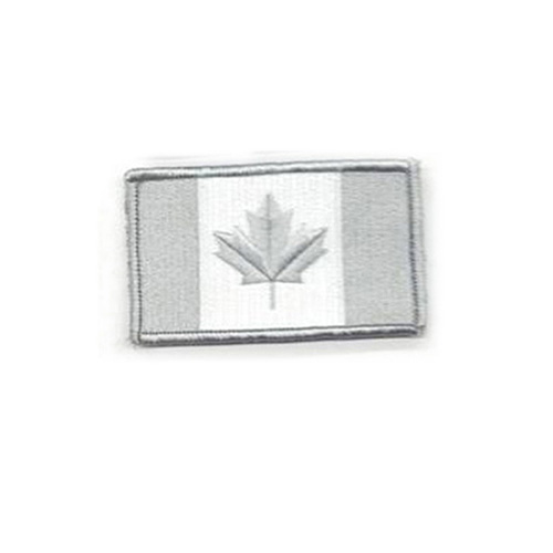 Small Winter Grey Canada 2 x 1 Inch Patch Hook and Loop Backing