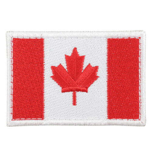 Large Original Canada 3 3/8 x 2 Inch Patch Hook Backing