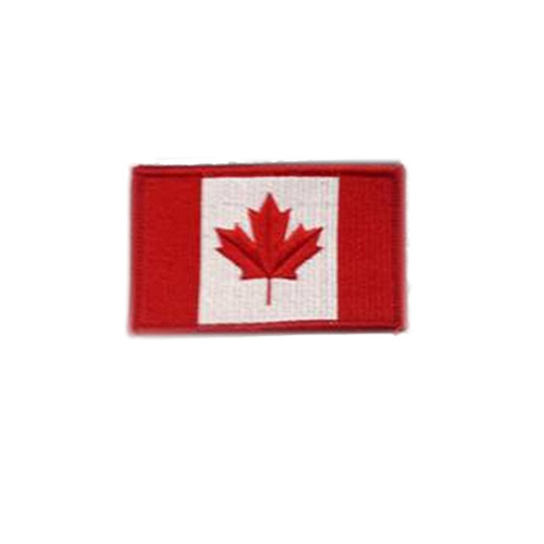 Medium Original Canada 3 x 1 3/4 Inch Patch Hook and Loop Backing