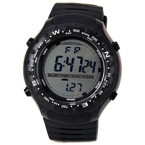 Military Style Watch - Black