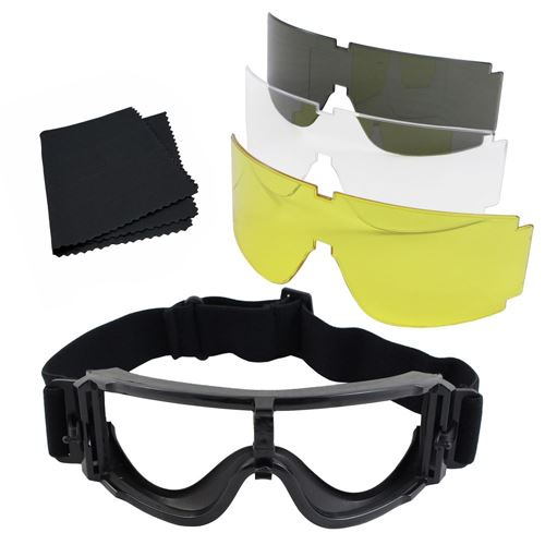 Tactical Safety Goggles Set