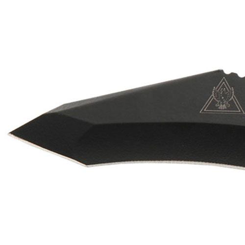 TDI/Hinderer Hell Fire Black Recurve Tanto Fixed Blade Knife