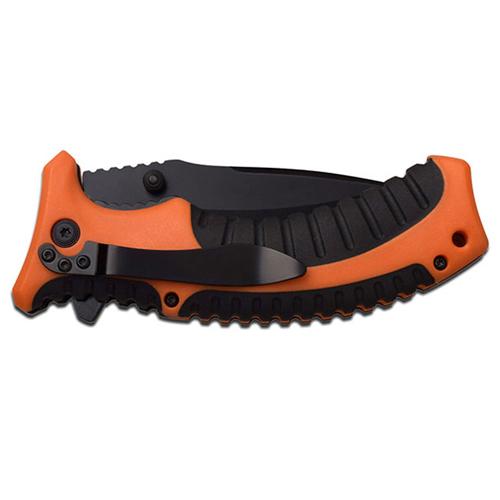 Elk Ridge Spring Assisted Knife 5 Inch - Orange