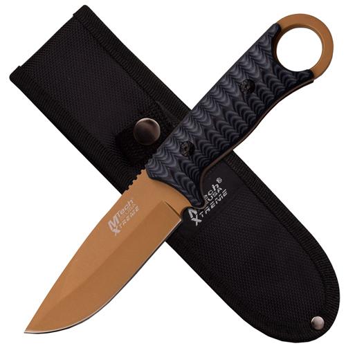 Xtreme Titanium Coated Plain Blade Fixed Knife