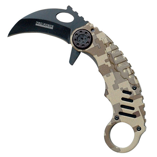 Tac-Force Black Blade Karambit Knife