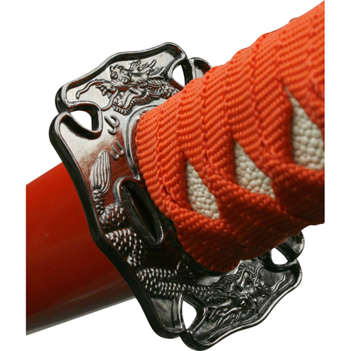 YK-58RD4 Red Cord Wrapped Handle 3 Pcs Sword Set