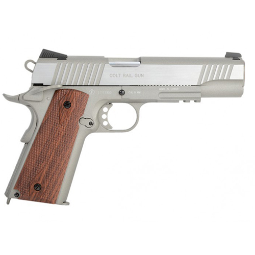 1911 Airsoft gun - Silver with Wood Grips