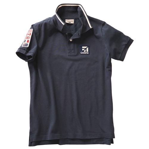 Cessna Flight Polo T-Shirt - Navy