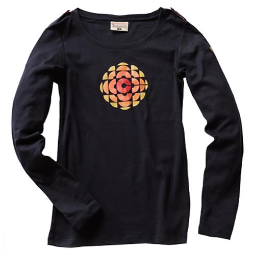 Women Long Sleeve CBC Gem T-Shirt - Navy