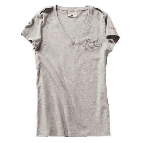 Women Rcaf V-Neck T-Shirt - Grey