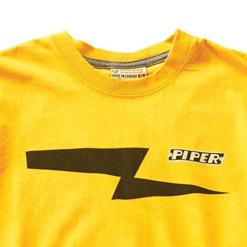 100 Percent Cotton Piper T-Shirt - Burnt Yellow