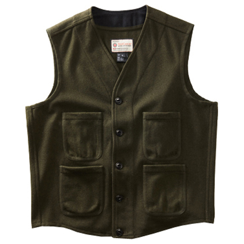 Wool Blend Woodsman Vest - Khaki